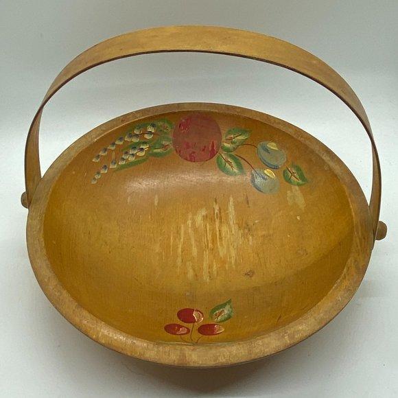 VINTAGE Scandinavian Hand-Painted Bowl Tole